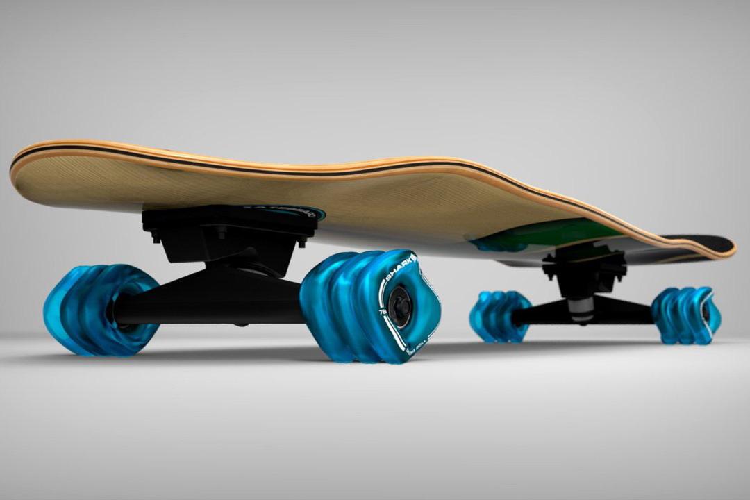 Shark wheel cruiser skateboard time4gadget for Shark tank motorized skates