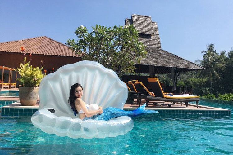 floaty giant shell swimming float time 4 gadget